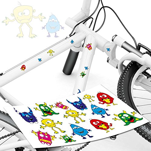 style4Bike Monster Fahrrad Aufkleber Monster Sticker für das Fahrrad als Aufkleber | TOP