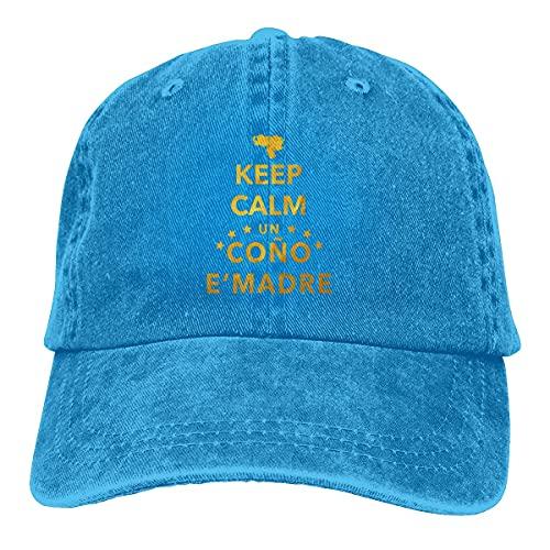 XCNGG Unisex Keep Calm Un Co & ntilde; o E 'Madre Cowboy Cap Verstellbarer Papa Hut für Männer und Frauen
