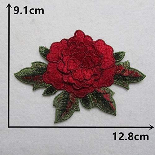 Hoge kwaliteit borduurwerk kant stof 3D bloem applicatie veters kraag DIY naaien afsnijdsels Craft levert jurk accessoires, 5PCS verkoop