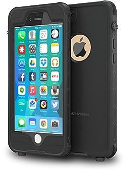 ImpactStrong iPhone 6 Plus Waterproof Case [Fingerprint ID Compatible] Slim Full Body Protection for Apple iPhone 6 Plus & 6s Plus  5.5   - Black