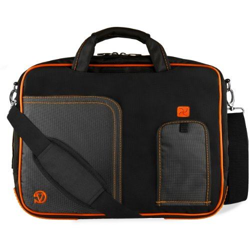 17.3 inch Laptop Messenger Bag for MSI Apache Pro GE72, GE73 GE75 Raider, GL73, GS73 SG75 Stealth, GP73 Leopard, VG72, WS72, Prestige PE70 PE72, X Leopard GP72 17 inch Orange Trim