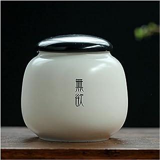 Porceau blanc Porcelaine Tea Jar Essence de poulet Sel Sel Humyture Storage Conteneurs Scellés Pot Scellé pour Café Candy ...