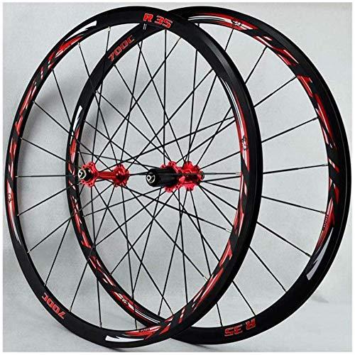 LIMQ Fahrradfelgen 700C Rennradfelgen (Vorderseite) 30 Mm Fahrradfelge Doppelwandige Aluminium Rennradfelgen BMX Bremse V Schnellspanner 7-12 Geschwindigkeiten,B
