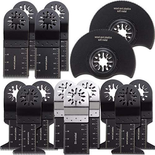 Affordable Oscillating Tools 15pcs Multimaster Ryobi Oscillating Saw Blades for Fein Oscillating Too...