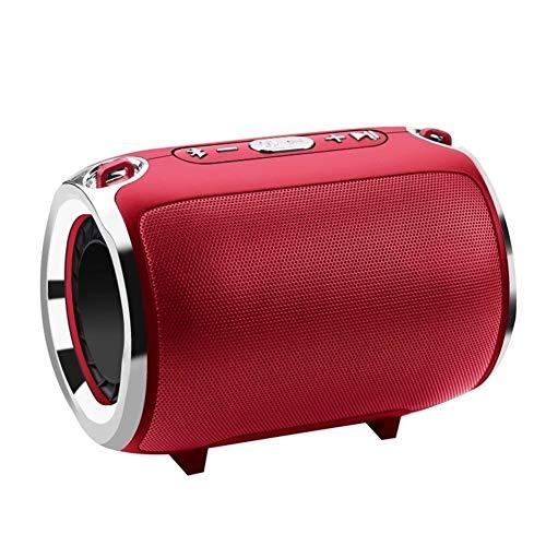 DKee. Red drahtlose Bluetooth-Stereo-Lautsprecher Bünde Subwoofer-Lautsprecher HiFi tragbare Boombox Unterstützung FM Radio TF AUX USB