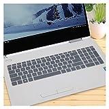DJNCIA Flessibile, Lavabile, 15 15,6 Pollici Tastiera Laptop Protector Cover for HP Envy 15 X360-bd001TX Padiglione 15-CB073TX / CB075TX Anti-Polvere Anti-Sporco (Color : Clear)