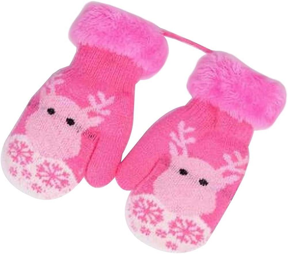 Lovely Knitted Baby Mittens Warm Winter Children Mittens Baby Gloves #18