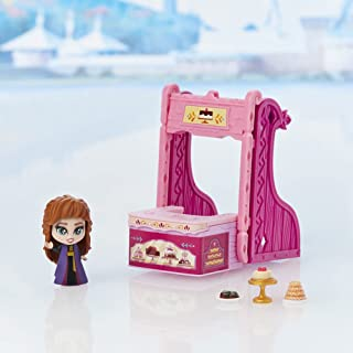 Disney's Frozen 2 Twirlabouts Series 1 Anna Sled to Shop Playset, Includes Anna Doll and Accessories, Toy for Kids 3 and Up