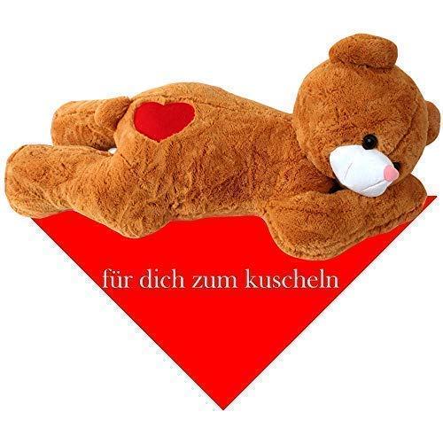 100cm / 150 cm XXL peluche orsetto teddy gigante con foulard - Ti amo 150