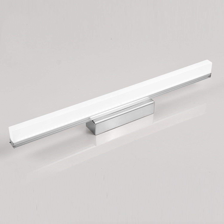 YSDHE Led Kommode Scheinwerfer Make-up Spiegel Licht, Wasserdicht und Nebel Edelstahl, Silber Wei (Farbe   Weies Licht, gre   49CM 12W)