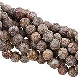 Perlas de jaspe natural Maifan, 8 mm, grado A, 15 unidades, G756