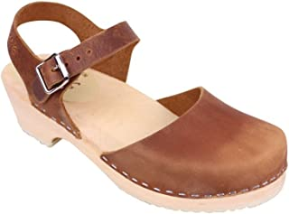 Low Wood Clogs in Brown Oiled Nubuck