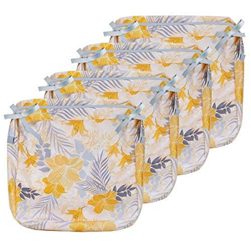 Porch Shield Fade Resistant Outdoor Cushion Cover – Water Repellent Patio Seat Cushion Replacement Cover, 24W x 24D x 4H inch, 4 Pack, Summer Blossom, Cover Only