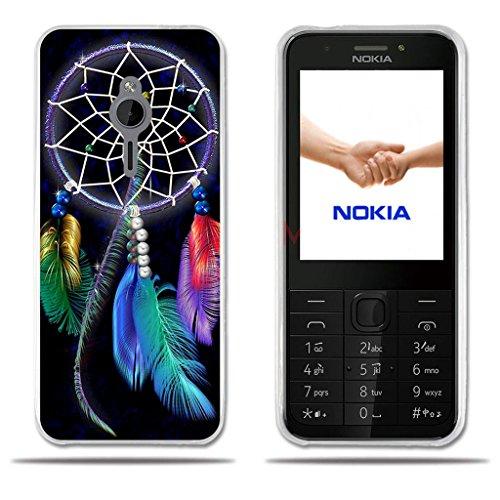 FUBAODA für Nokia 230 Hülle, [Träumer] Slim Fit Shockproof Flexible 3D Chic Design Geometrische Diamond Pattern Minimalistische Ultra Thin Lightest Boy Geschenke e Silicon TPU Protector für Nokia 230
