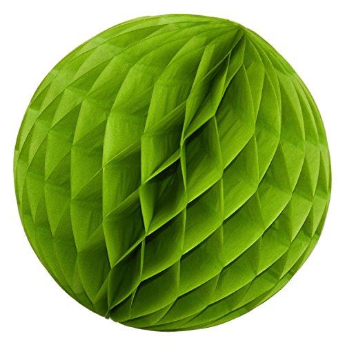 Simplydeko Wabenball | Deko Honeycomb Papierkugel aus Seidenpapier | Papierlampion | Papierball | Lampion aus Wabenpapier | Apfel-Grün | 20 cm