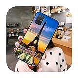Hot Love Paris Tour Eiffel Coque pour Samsung Galaxy A52 A21S A02S A12 A31 A81 A10 A30 A40 A50 A70...