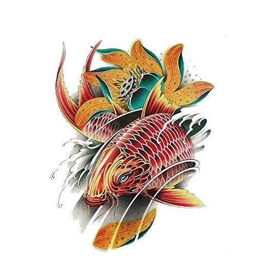 Suncolor8 Parte Moda del Tatuaje Pegatinas Macho y Hembra comn de Carpas temporales del Tatuaje, Apto for Hombres y Mujeres, Impermeable, desprendible Playa