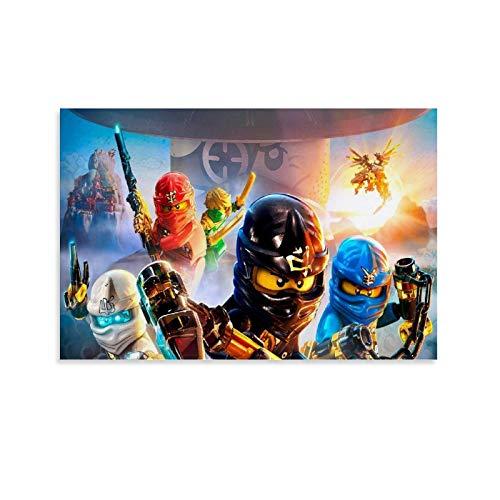 Poster sur toile avec personnage de l'animé Ninjago - Décoration murale - 30 x 45 cm