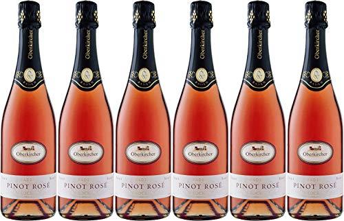 Oberkircher Winzer Pinot rosé Sekt 2018 Trocken (6 x 0.75 l)