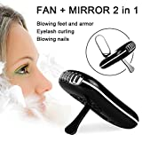 TOMNEW Eyelashes Dryer Fan Mini Portable USB Rechargeable Electric Bladeless Handheld Air Conditioning