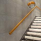 LXHJZ Pasamanos - Kit Completo.Barandilla Madera Pino para Personas Mayores y niños discapacitados, Soportes Pared, escaleras Entrada al ático del Corredor la Villa (30-400 cm)