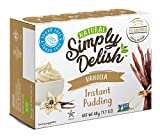Simply Delish Natural Instant Vanilla Pudding - Sugar Free, Non GMO, Gluten Free, Fat Free, Vegan, Keto...