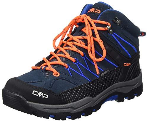 CMP – F.lli Campagnolo Unisex-Kinder Kids Rigel Mid Shoe Wp Trekking-& Wanderstiefel, Blau (Cosmo-Flash ORANGE 19NE), 38 EU
