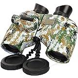 Fernglas mit Entfernungsmesser 10x50 IPX7 Wasserdicht BAK4 FMC Zoom für Jagd Astronomie Safari Wandern Marine Reise Feldstecher mit Tasche und Gurt Tarnung