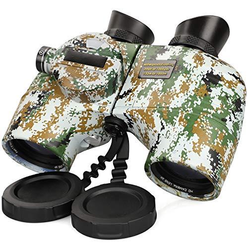 Prismáticos Profesionales 10x50 Impermeables IPX7 FMC BAK4 Binoculares Potentes para Caza Senderismo y Viajes Camouflage