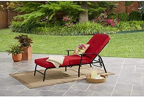 Beige Mainstays Belden Park Cushion Chaise Lounge Set
