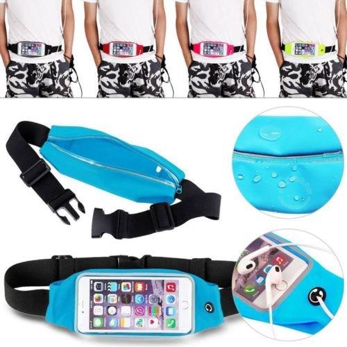 Theoutlettablet® heuptas voor hardlopen, joggen, zweetafstotend en reflecterend, met tas voor Smartphone Asus ZenFone Go (ZC500TG) Kleur blauw