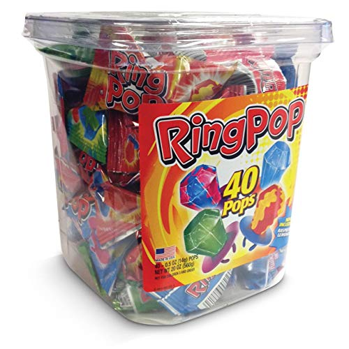Ring Pop Hard Candy Pops Variety Pack 44 Count