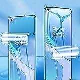 ONICO Bildschirm Schutzfolie für Oneplus 8T 5G,TPU Selbstheilend Anti-Bläschen 3D-Gebogenen Volle Bedeckung Folie kompatibel mit Oneplus 8T 5G [2 Stück]