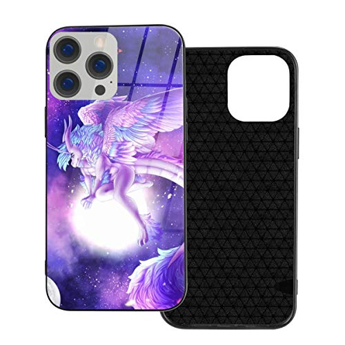 RTBB Iphone 12 Glass Case 3D Galaxy Dragon Travel In Space Flexible Soft Tpu Protection Back Toughened Glass Protective Shockproof Cover Cases For Iphone 12/12 Pro/12 Mini/12 Pro Max