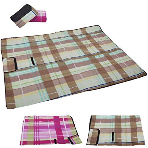 Bestlivings Picknickdecke 130 x 170cm Beige Kariert