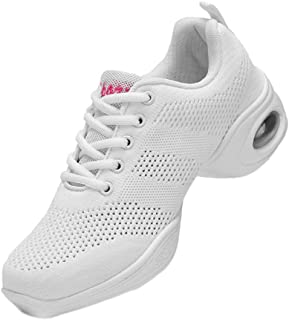 Fulision Female Modern Jazz Square Dance Shoes Thicken Non-Slip Sole Sneakers