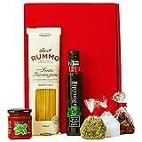 Geschenkset Neapel | Italien Geschenkkorb gefüllt mit Pasta, Feinkost & italienische Spezialitäten | Delikatessen Präsentkorb italienisch für Frauen & Männer