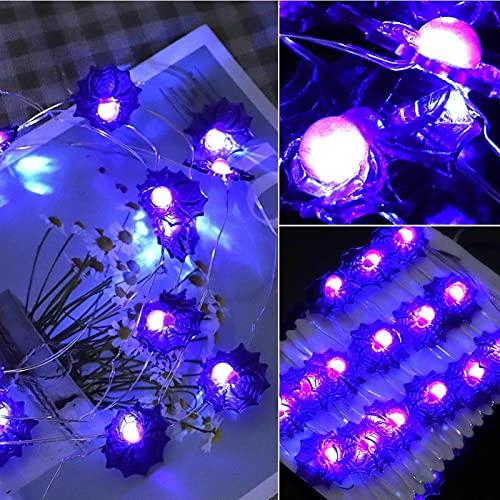 Omabeta Guirnalda de luces azul iluminación decoración para cumpleaños