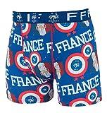 Equipe de FRANCE de football Boxer FFF - Collection Officielle Taille Enfant garçon 10 Ans