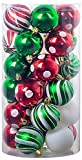 Christmas Balls Ornaments - Shatterproof Christmas Ornaments 30PCS 2.36' for Xmas Christmas Tree Decorations, Hanging Christmas Ball Set for Holiday Wedding Party Decoration Hooks Perfect Super Bulb