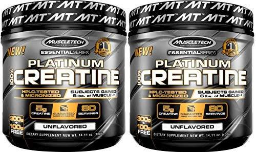 MuscleTech Platinum Creatine Monohydrate Powder 100% Pure Micronized Creatine Powder 141oz 80 Servings 2Pack