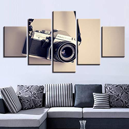 Gaetooely Póster de Obras de Arte, Cuadros de Lienzo modulares, 5 Piezas, Pintura de cámara, decoración del hogar para Sala de Estar, Impresiones HD, Arte de Pared Moderno