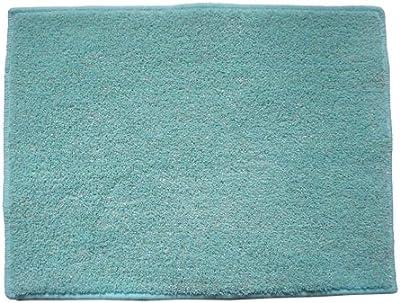 芝生感触+キッチンマット 45×180 ブルー 1698v