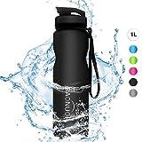 BAONUOR - Borraccia Sportiva, 1 litro, senza BPA, in Tritan, a prova di perdite, Bottiglia d'Acqua...