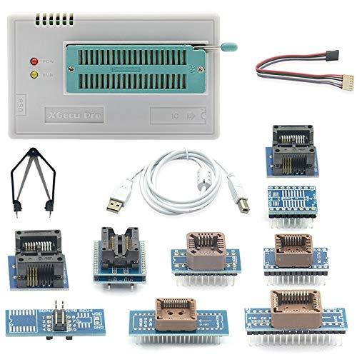 Kamenda V8.51 TL866II Plus Universal Minipro Programmer + 10 Adapter + Testclip TL866 PIC Bios High Speed Programmer