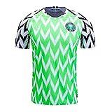 Camisa de fútbol para Hombre/Camisa de fanático del fanático de los Hombres/Nigeria Camisa Nacional de Fútbol, Camiseta Deportiva de Ocio, Hombres Retro Adultos Camisas Atletismo Retro,M