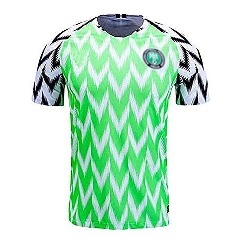 Camisa de fútbol para Hombre/Camisa de fanático del fanático de los Hombres/Nigeria Camisa Nacional de Fútbol, Camiseta Deportiva de Ocio, Hombres Retro Adultos Camisas Atletismo Retro,L