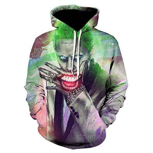 New Joker Sweatshirts Men Hoodies Suicide Squad Deadshot 3D Print Hoodie Male Casual Tracksuit Tops Hoody Men Long Sleeve-We-882_Xs