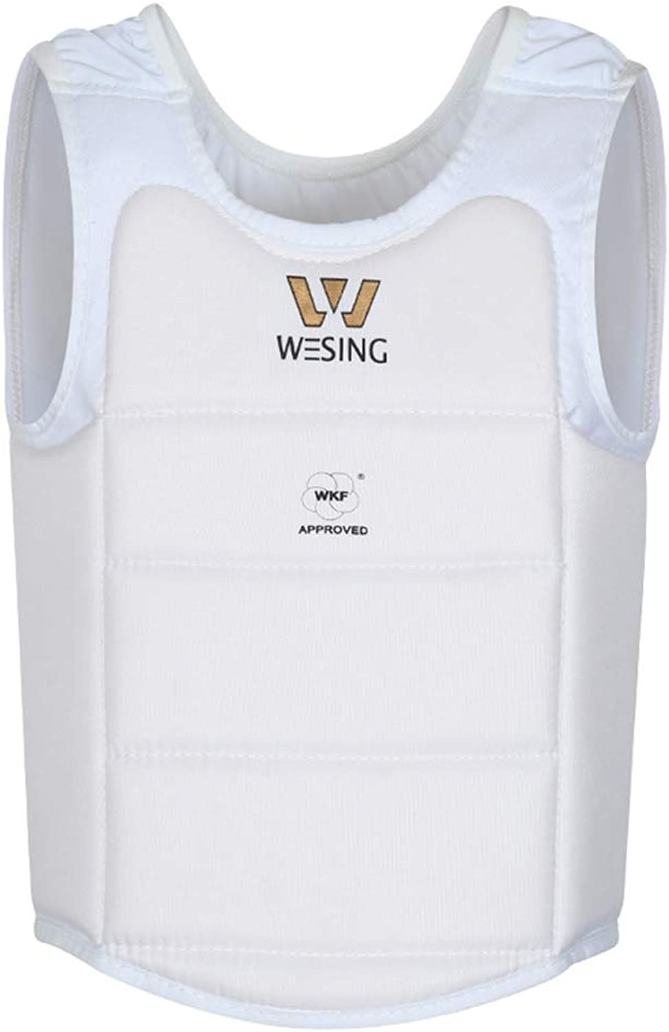 Wesing Professional Karate WKF Approved Men Chest Predector karate chest guard (White, S)