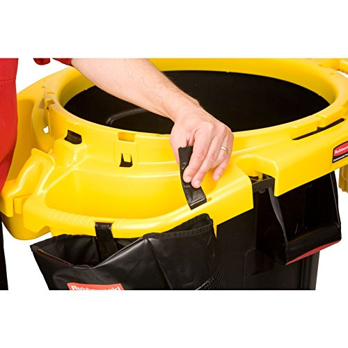 "Rubbermaid Commercial FG9VDVRC4400 Yellow Polyethylene Deluxe Rim Caddy, 28 1/2"" x 39 1/8"""
